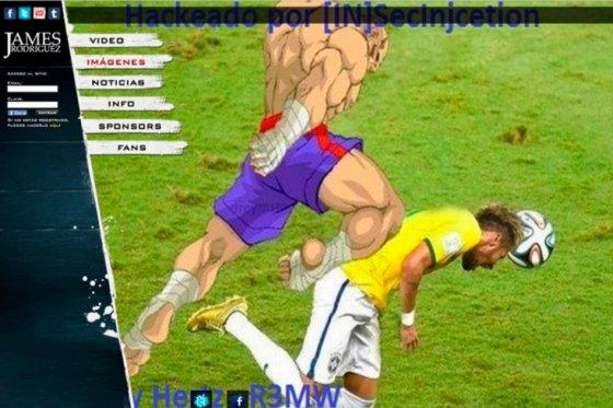 Hackearon la web oficial de James Rodríguez