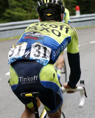 Ciclismo: Alberto Contador en la bicicleta
