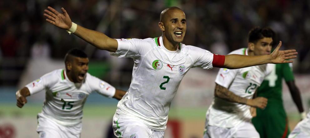 Mundial: Equipo de Argelia celebra en la cancha
