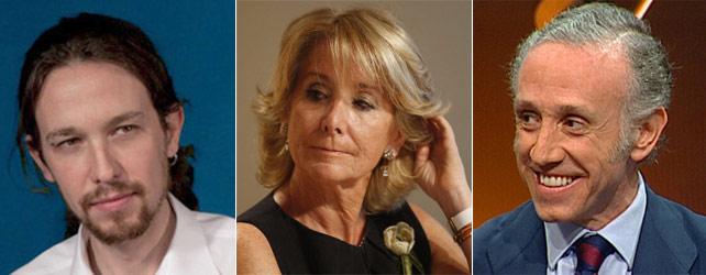 España: Espeanza Aguirre, Pablo Iglesias