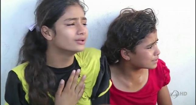 Gaza: niñas sobrevivientes a bombardeo