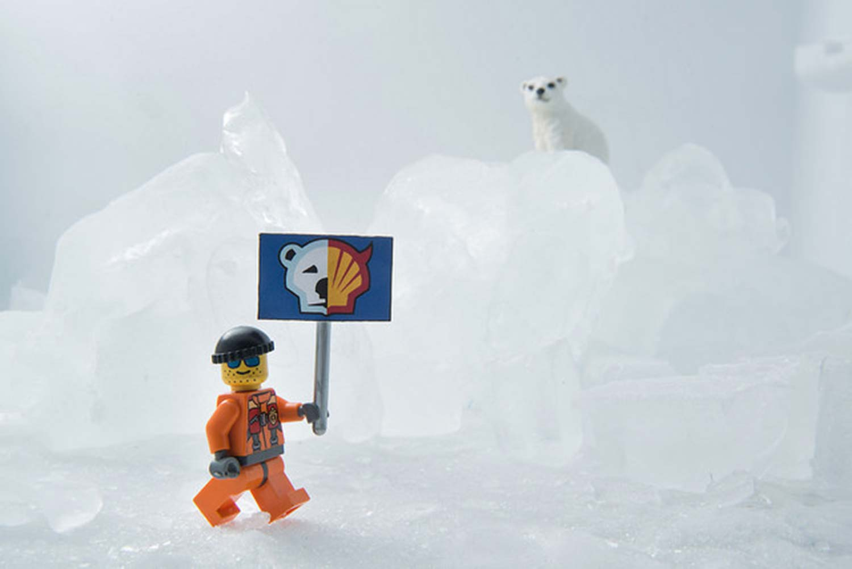 Juguete Lego campaña por la Antártida