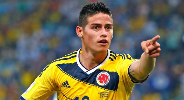 James Rodríguez tras anotar un gol