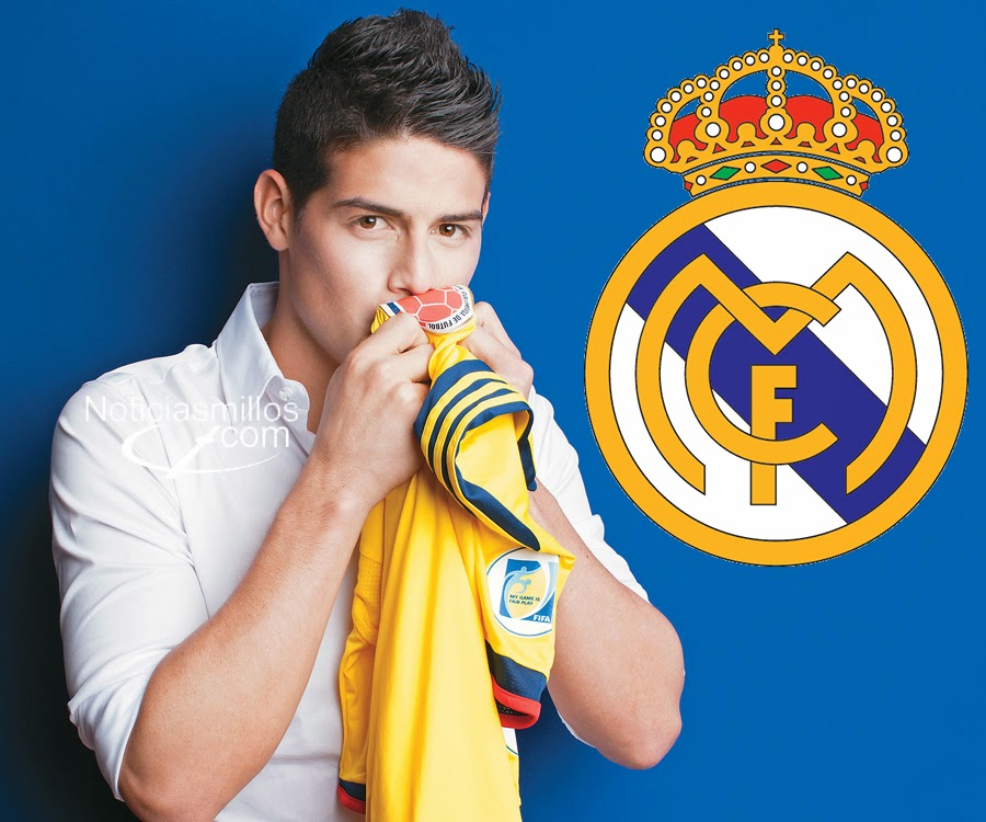 James Rodriguez camiseta Colombia backing Real Madrid
