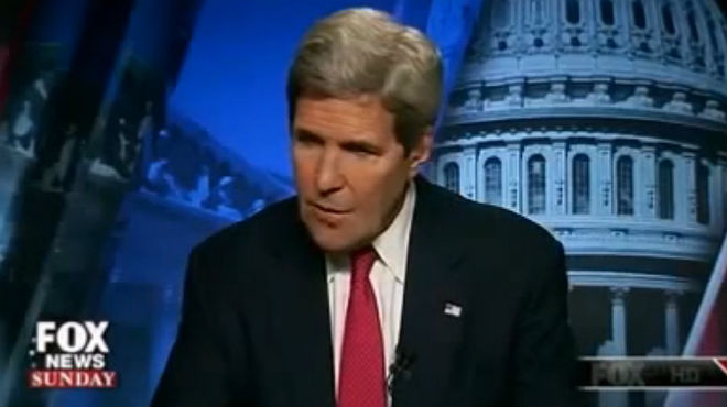 John Kerry en pantalla de Fox