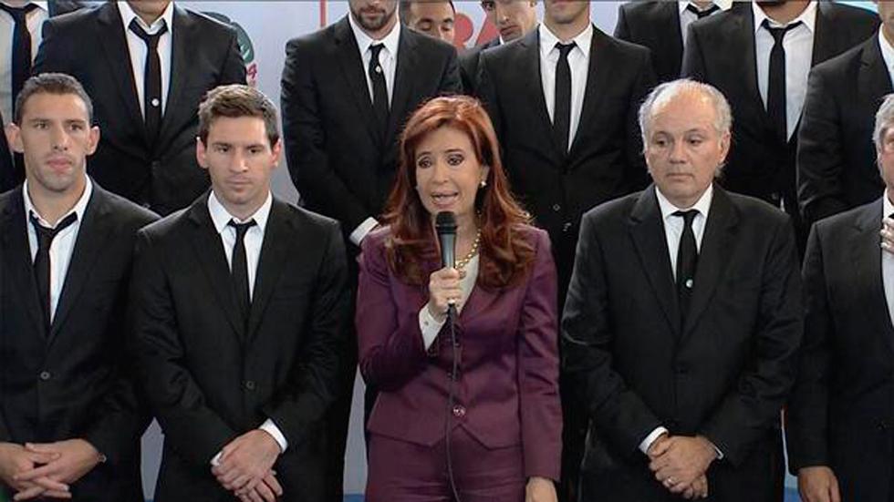 Llega la selección de Argentina