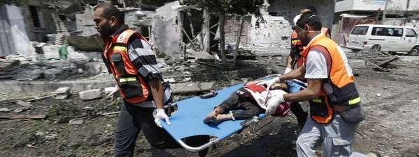 Personal médico en Gaza