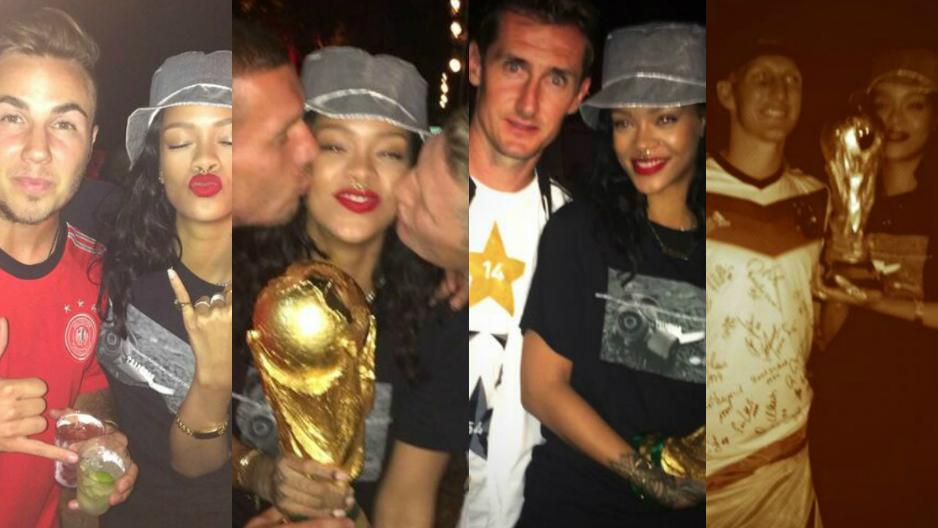 Mundial: Rihana de fiesta con la selección de Alemania