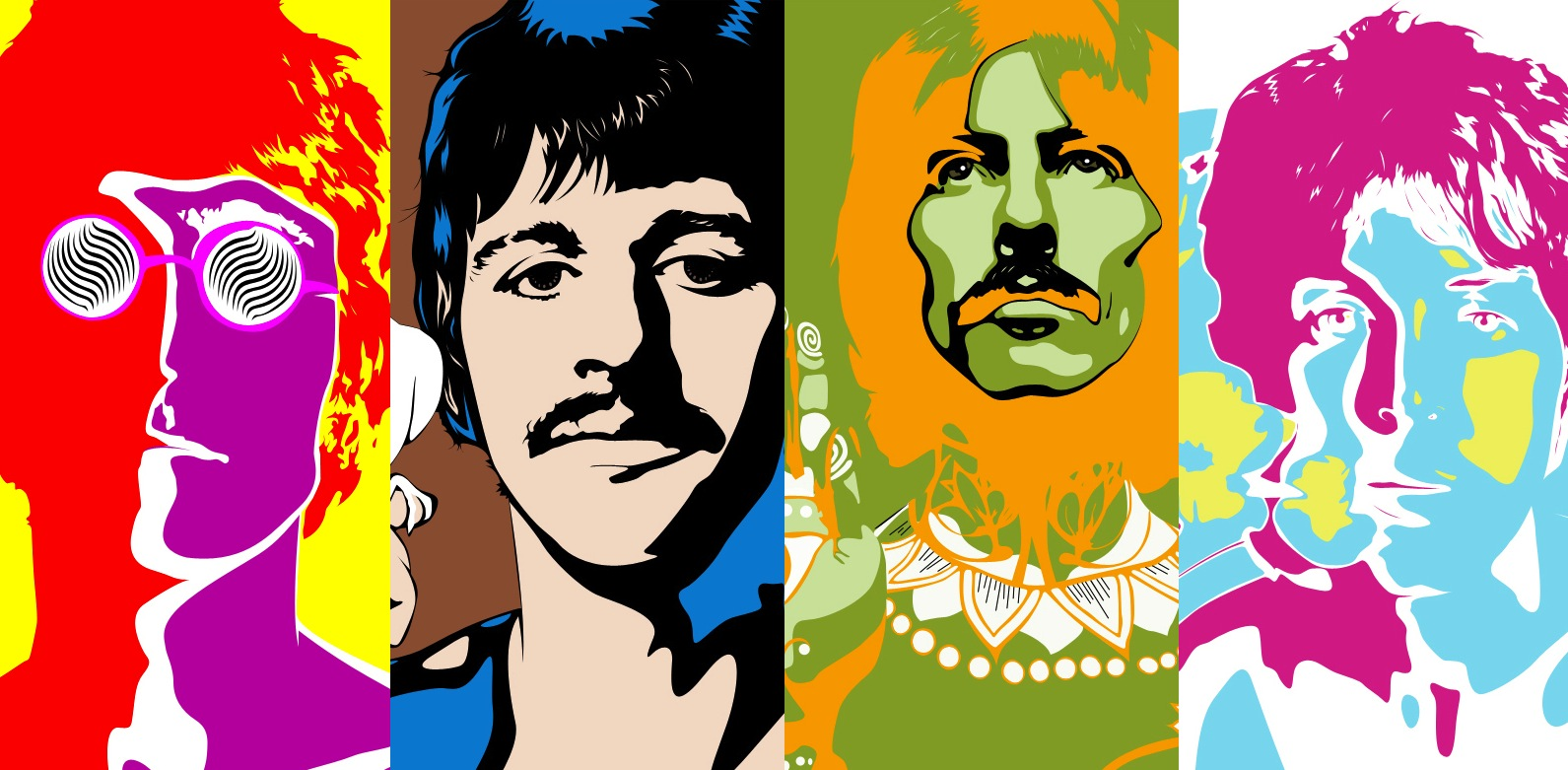 Los Beatles: arte submarino amarillo