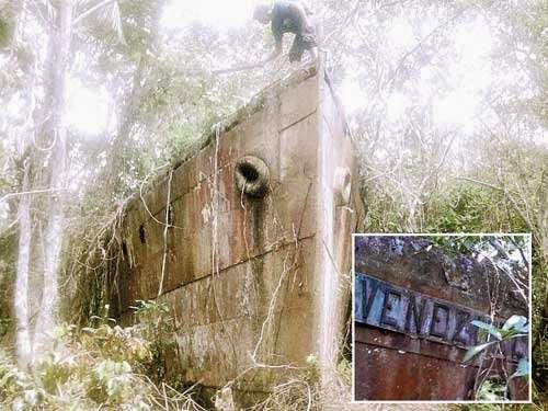 La goleta hallada en Catatumbo