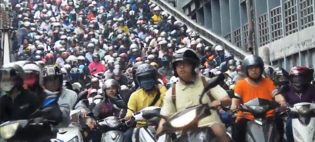 Motorizados en Taiwan