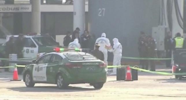 Policia Aeropuerto Chile tras asalto