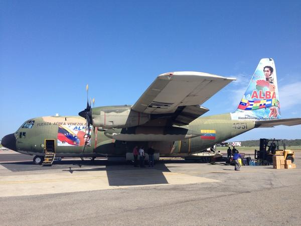 Hércules de la Fuerza Aérea Venezolana para Palestina