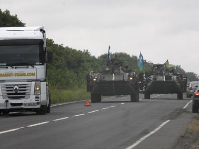 Convoy militar ucraniano rumbo a Donetsk