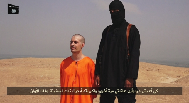 James Foley antes de ser decapitado