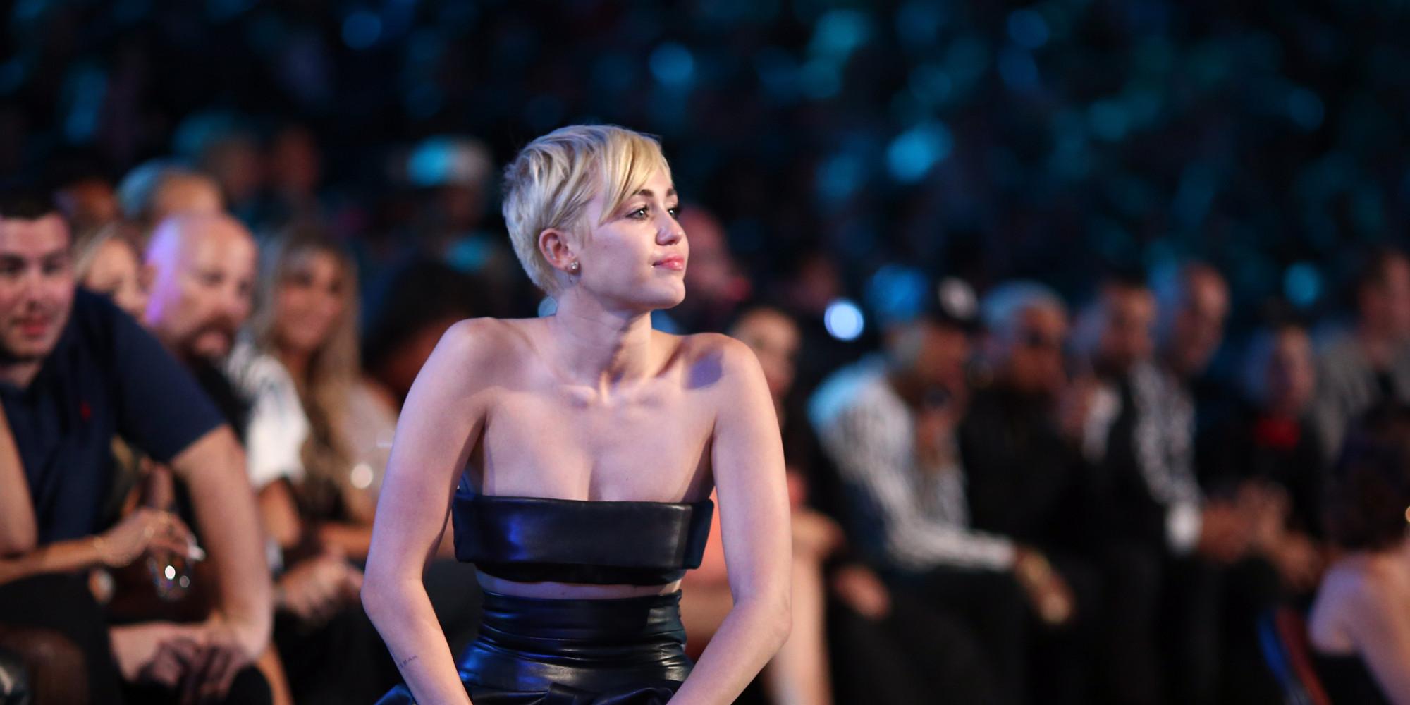 Miley Cyrus en la entrega de los MTV
