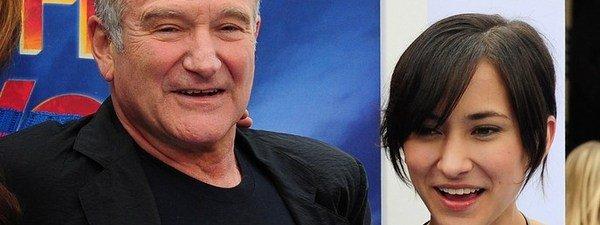 Composición: Robin Williams y su hija Zelda Williams