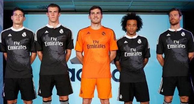 Jugadores del Real Madrid con nuevo uniforme con dragón