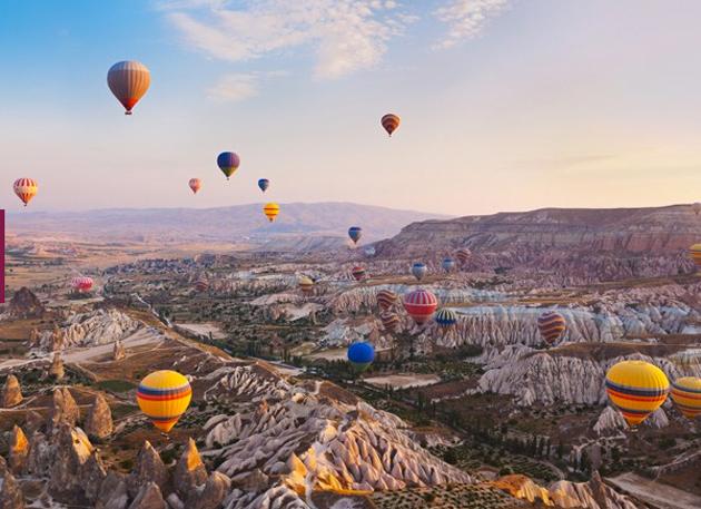 Sobrevolar las vistas de Capadocia en Turquía