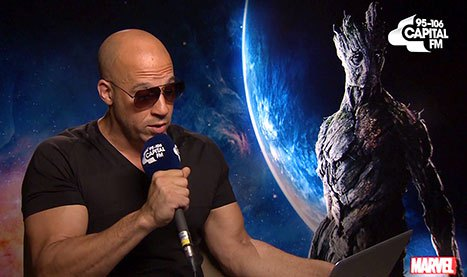 Vin Diesel cantando la canción de Sam Smith