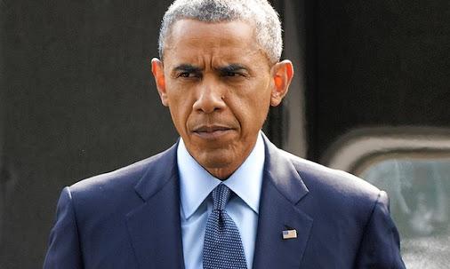 Barack Obama muy serio