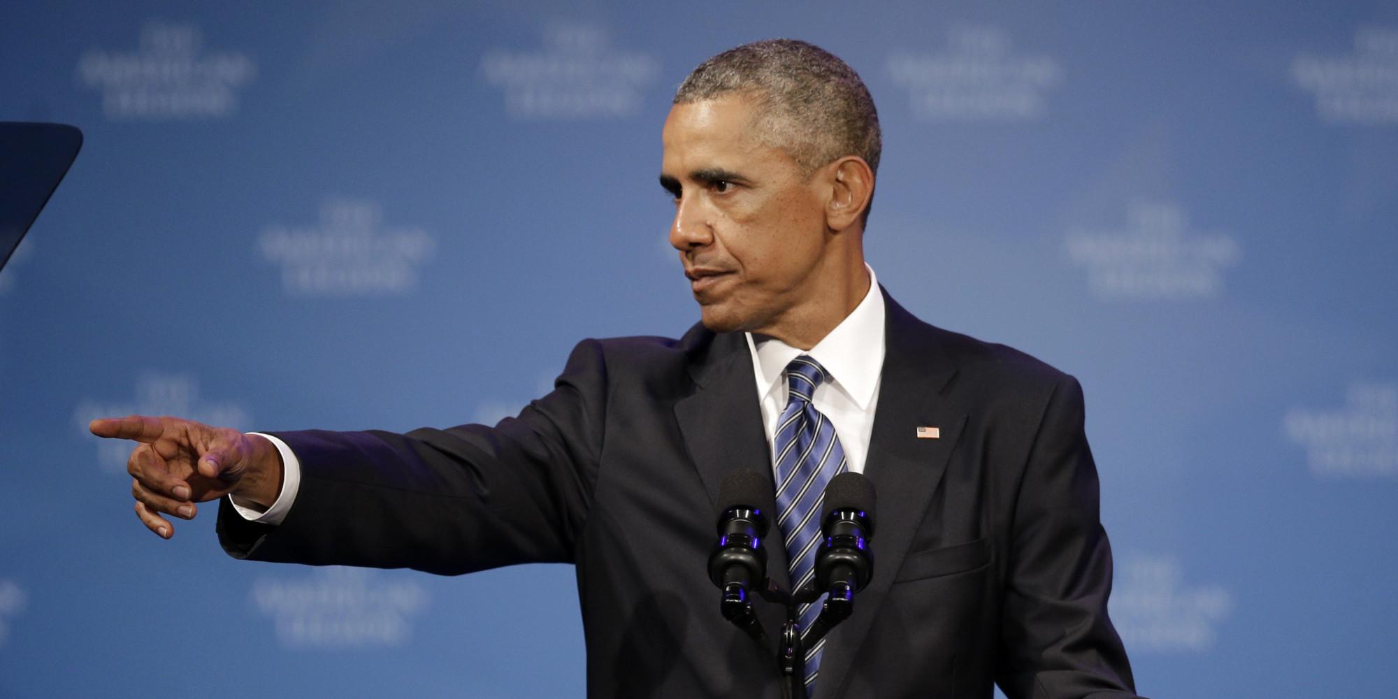Barack Obama apunta con el dedo