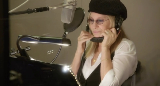 Barbra Streisand grabando