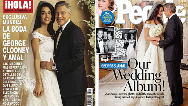 Fotos de la boda de George y Amal