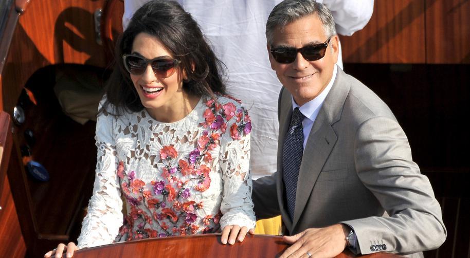 George Clooney y su nueva esposa