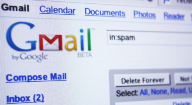 Captura de pantalla con gmail
