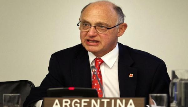 Canciller Argentino Héctor Timmerman ante la ONU