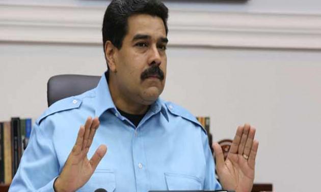 Nicolás Maduro en rueda de prensa