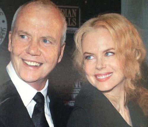 Nicole Kidman con su padre Tony Kidman