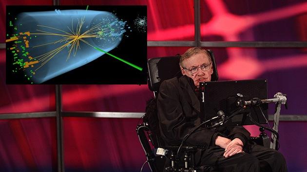 Científico británico Sthepen Hawking en una conferencia
