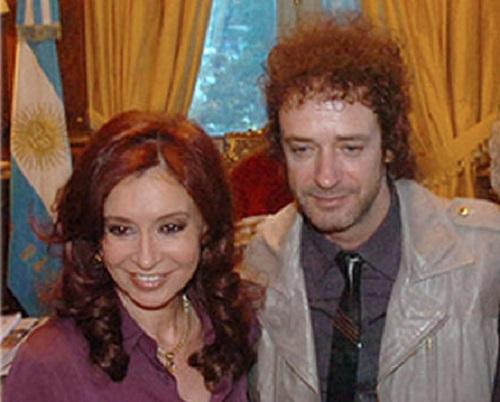 Cristina Fernández y Gustavo Cerati