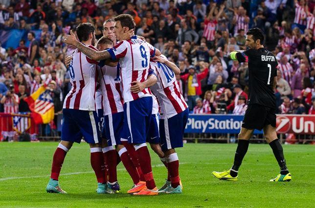 Atlético de Madrid celebra gol