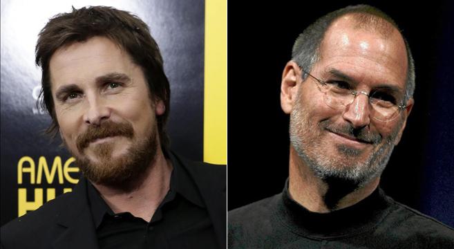 Christian Bale y Steve Jobs fotocomposición