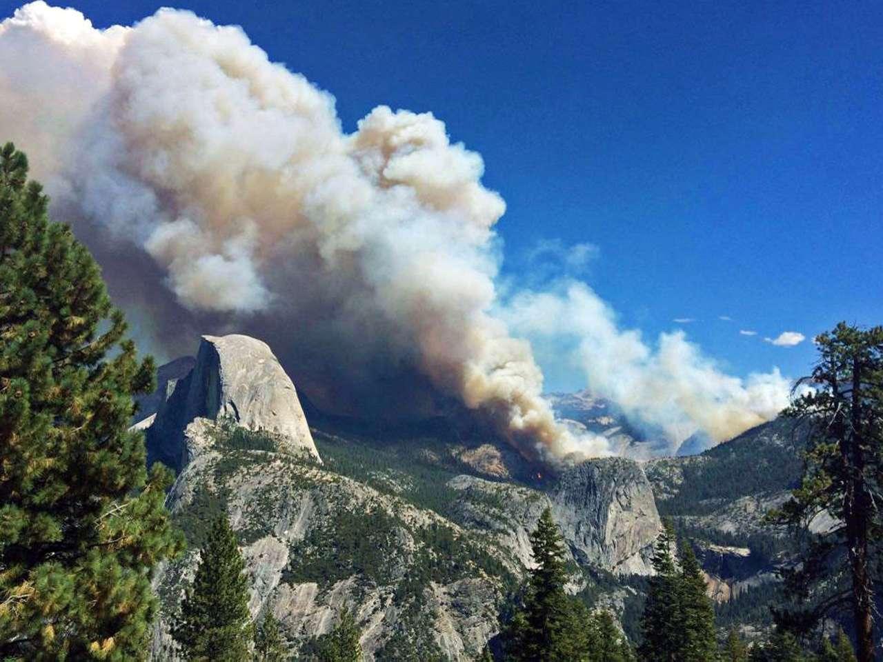 Incendio en el Yosemite - California