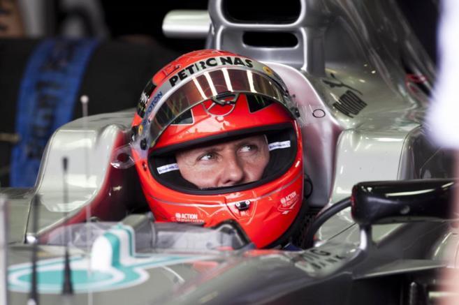 Michael Schumacher en tiempos de carrera