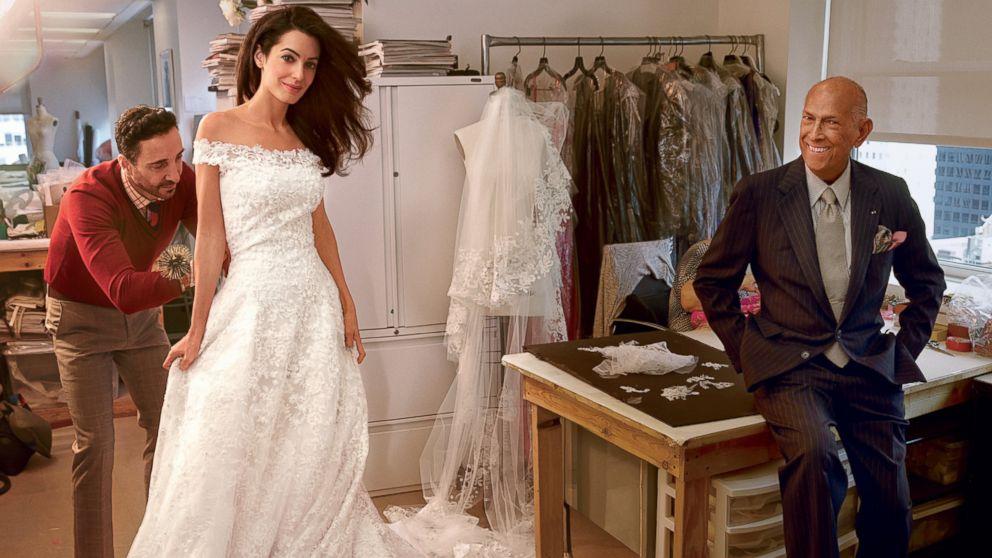 Oscar de la Renta y Amal Clooney