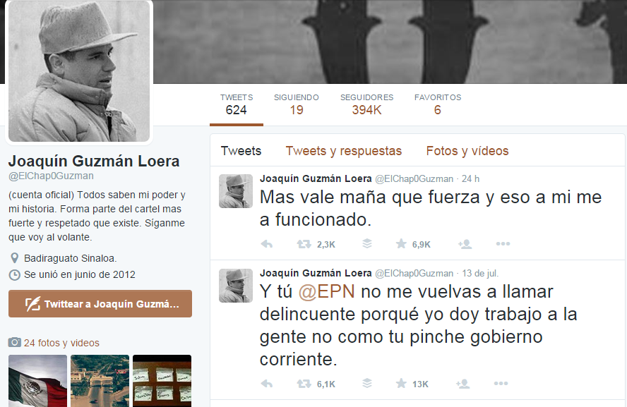 Presunta Cuenta En Twitter De El Chapo Guzmán Amenaza A Peña Nieto