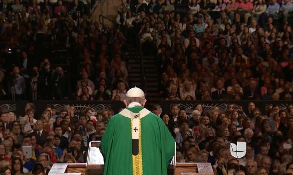 En Fotos Un Madison Square Garden Repleto Recibe A Un Papa