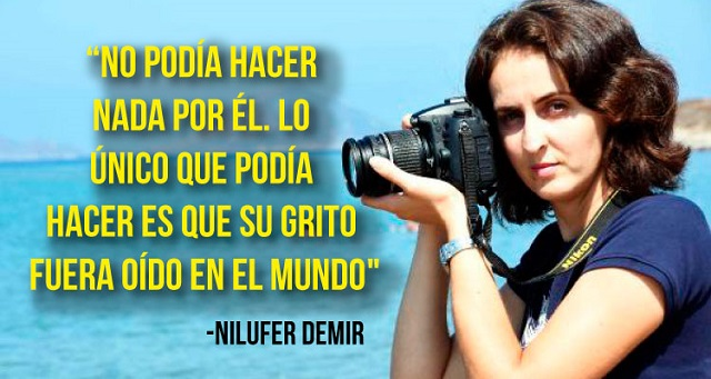 La valiente periodista, Nilufer Demir es la autora de la foto